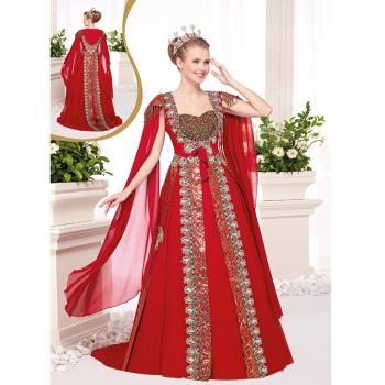 Elmas Taş İşlemeli Kaftan Elbise